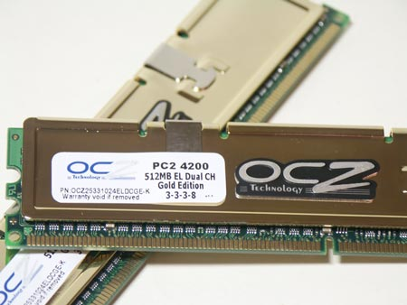 Память OCZ Gold DDR2 PC4200