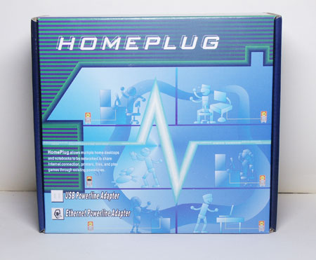Коробочка HomePlug Ethernet PowerLine  Adapter